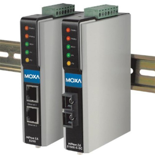 MOXA NPort 5650I-8-DT 8-Port Device Server Optical Isolation DB-9M 15KV ESD 10//100 Ethernet 12-48VDC RS-232//422//485 110V Power Supply